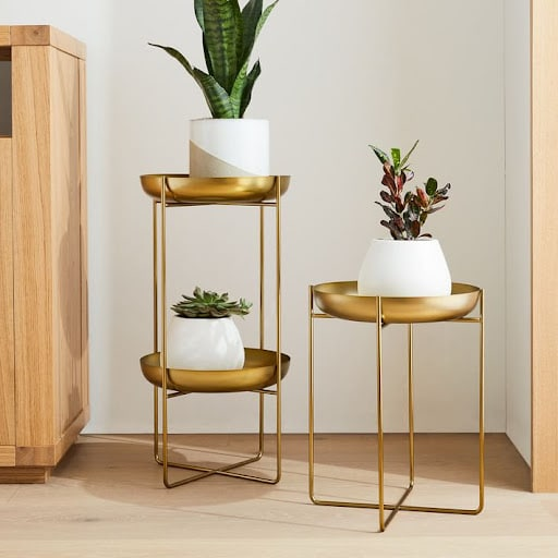 Spun Metal Plant Stand from West Elm – 89 110