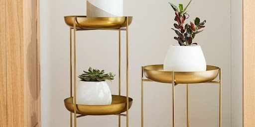 Spun Metal Plant Stand from West Elm – $89-$110